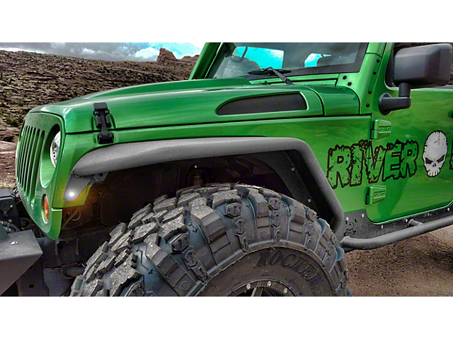 Hauk Off-Road Factory Full Width Tube Fenders - Bare Aluminum (07-18 Jeep Wrangler JK)