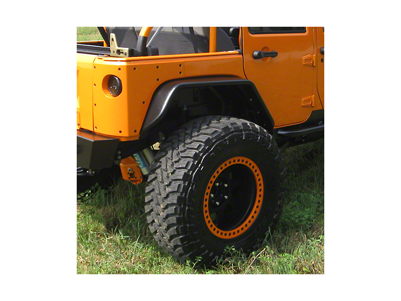Hauk Off-Road Factory Full Width Tube Fenders - Epoxy Black Aluminum (07-18 Jeep Wrangler JK)