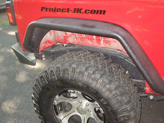 Hauk Off-Road Narrow Width Tube Fenders; Black Steel (07-18 Jeep Wrangler JK)