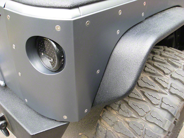 Hauk Off-Road Bomb-Proof Corners; Bare Aluminum (07-18 Jeep Wrangler JK 2 Door)