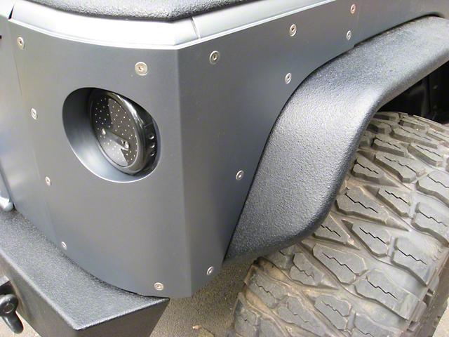 Hauk Off-Road Bomb-Proof Corners - Bare Steel (07-18 Jeep Wrangler JK 2 Door)