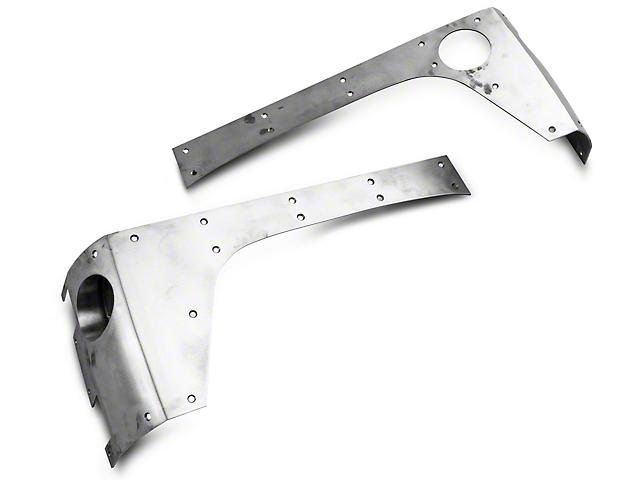 Hauk Off-Road Extended Corners - Bare Steel (07-18 Jeep Wrangler JK 4 Door)