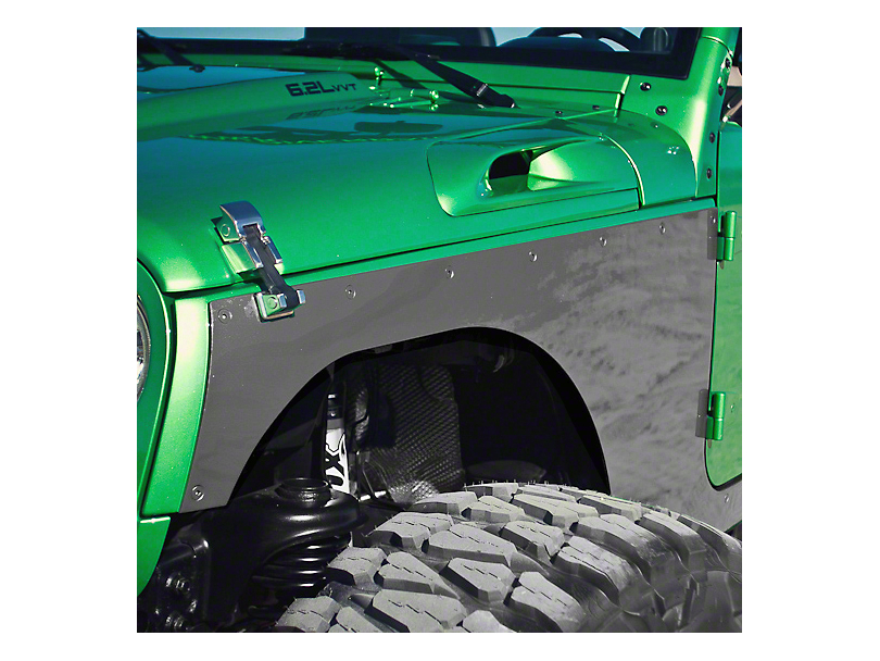 Hauk Off-Road Front Corner Armor Builder's Kit - Bare Aluminum (07-18 Jeep Wrangler JK)