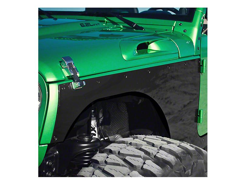 Hauk Off-Road Front Corner Armor Builder's Kit - Bare Steel (07-18 Jeep Wrangler JK)