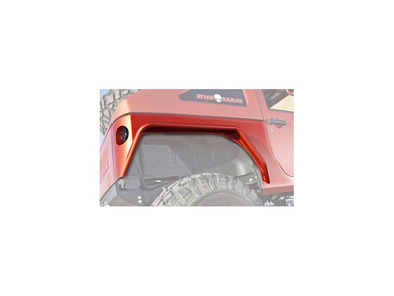 Hauk Off-Road Rear Fender Builder's Kit; Bare Aluminum (07-18 Jeep Wrangler JK 2 Door)