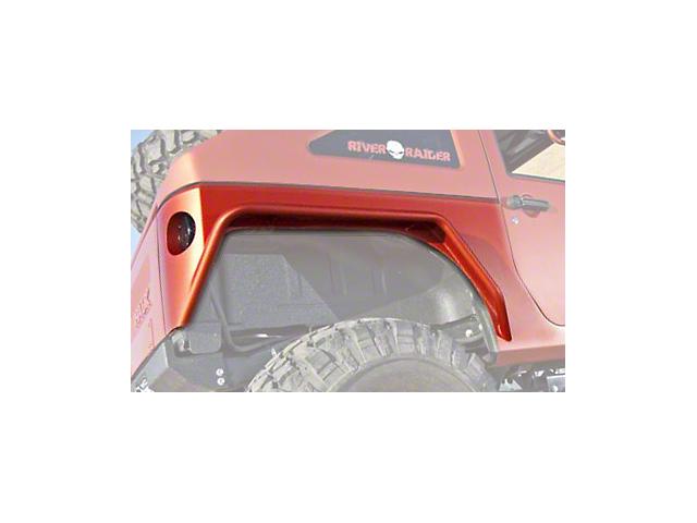 Hauk Off-Road Rear Fender Builder's Kit - Bare Aluminum (07-18 Jeep Wrangler JK 4 Door)