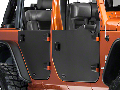 Rugged Ridge Front Half Door - Pair (07-18 Wrangler JK)
