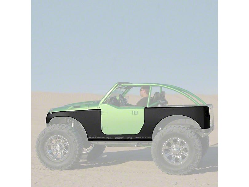 Hauk Off-Road Rocker and Full Corner Armor - Bare Steel (07-18 Jeep Wrangler JK 2 Door)