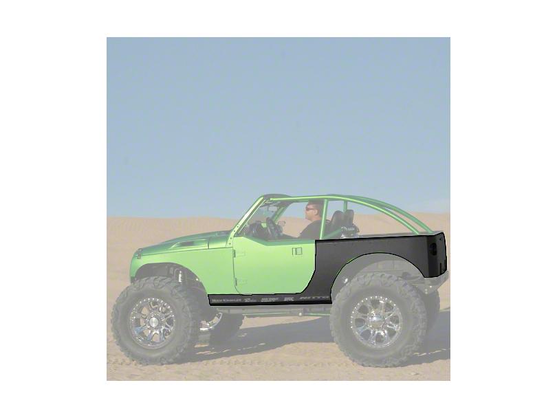 Hauk Off-Road Rocker and Rear Corner Armor; Bare Steel (07-18 Jeep Wrangler JK 2 Door)