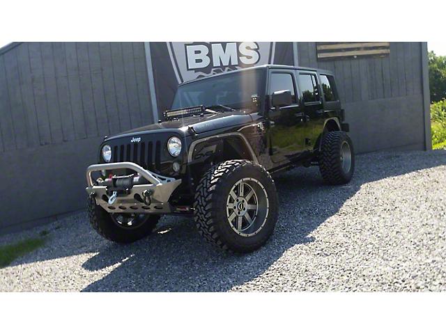 VKS Fabrication Enforcer Front Winch Bumper w/ Hoop (07-18 Jeep Wrangler JK)