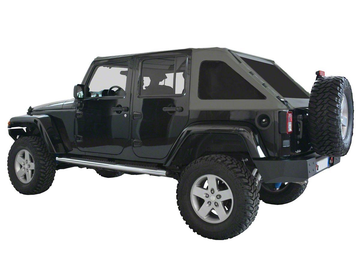 Green Jeep Wrangler >> Suntop Fastback Top U4 Windows Military Green 07 18 Jeep Wrangler Jk 4 Door