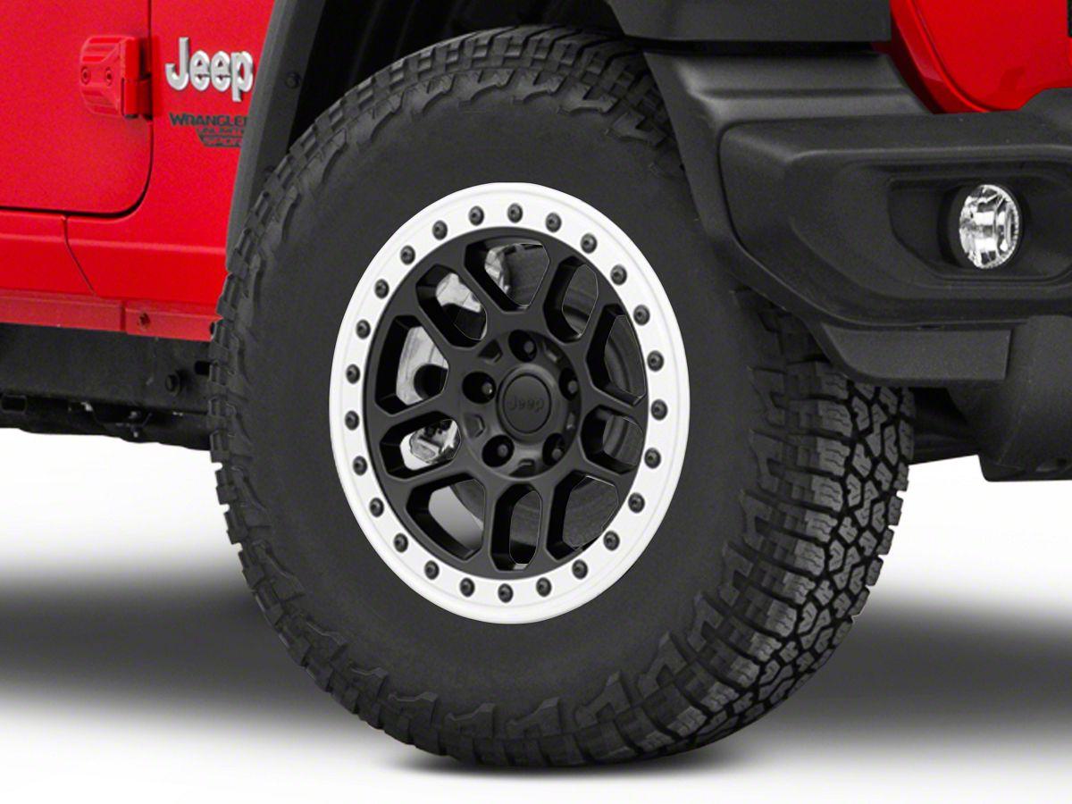 Mopar Jeep JL JK Gladiator 17x8 Bead Lock Capable Wheel Black OEM