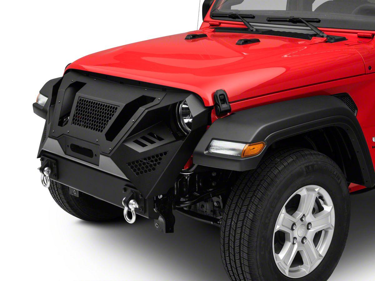 Jeep Wrangler Grill >> Barricade Apocalypse Grille Guard 18 20 Jeep Wrangler Jl