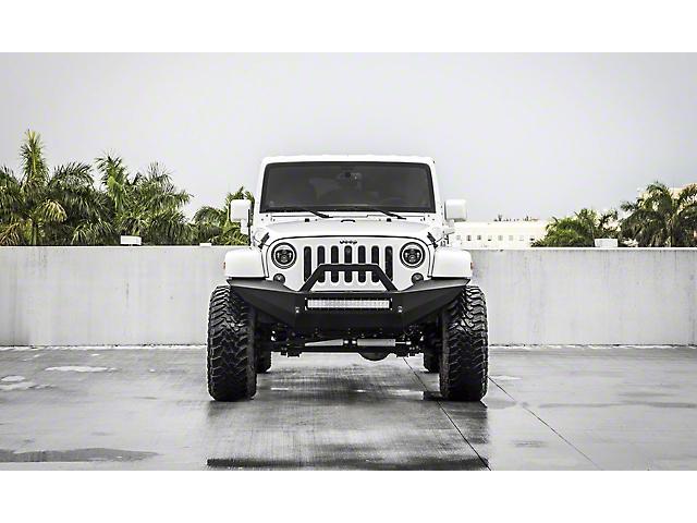 VPR 4x4 MP Front Bumper; Bare Metal (07-18 Jeep Wrangler JK)