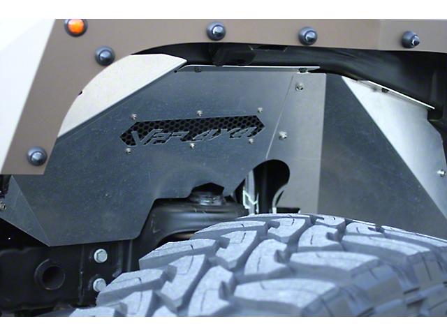 VPR 4x4 Front Inner Fenders; Bare Metal (07-18 Jeep Wrangler JK)