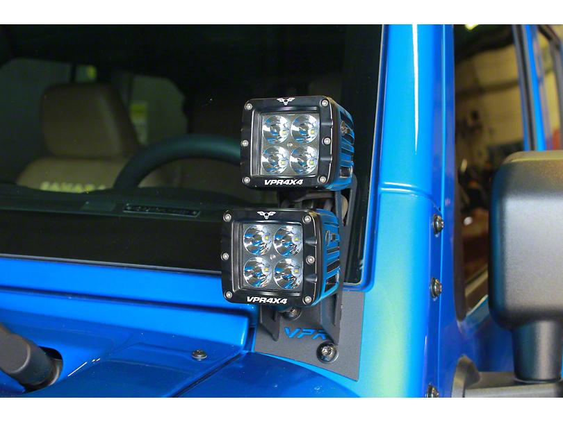 VPR 4x4 2-Inch Double LED Light Mounting Bracket (07-18 Jeep Wrangler JK)