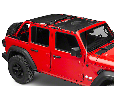Dirty Dog 4x4 Front & Rear Sun Screens - Black (2018 Jeep Wrangler JL 4 Door)