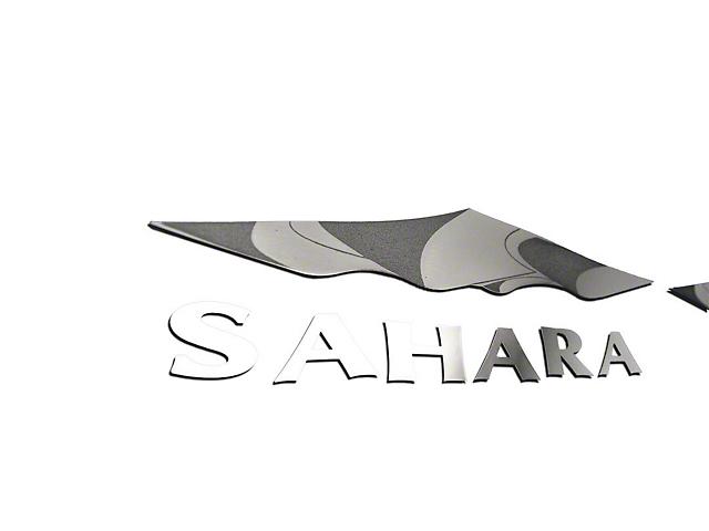 Sahara Badges; Polished (07-18 Jeep Wrangler JK)