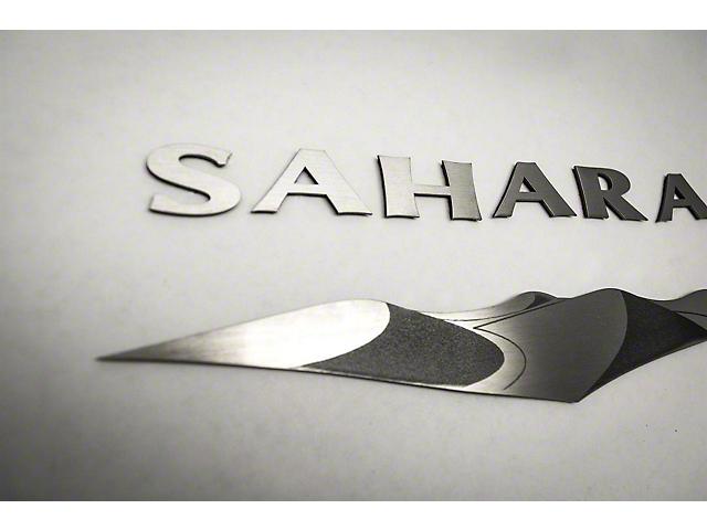 Sahara Badges; Brushed (07-18 Jeep Wrangler JK)