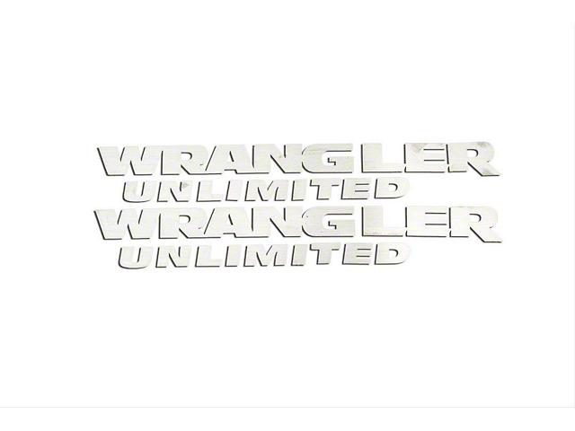 Wrangler Unlimited Badges; Polished (07-18 Wrangler JK)