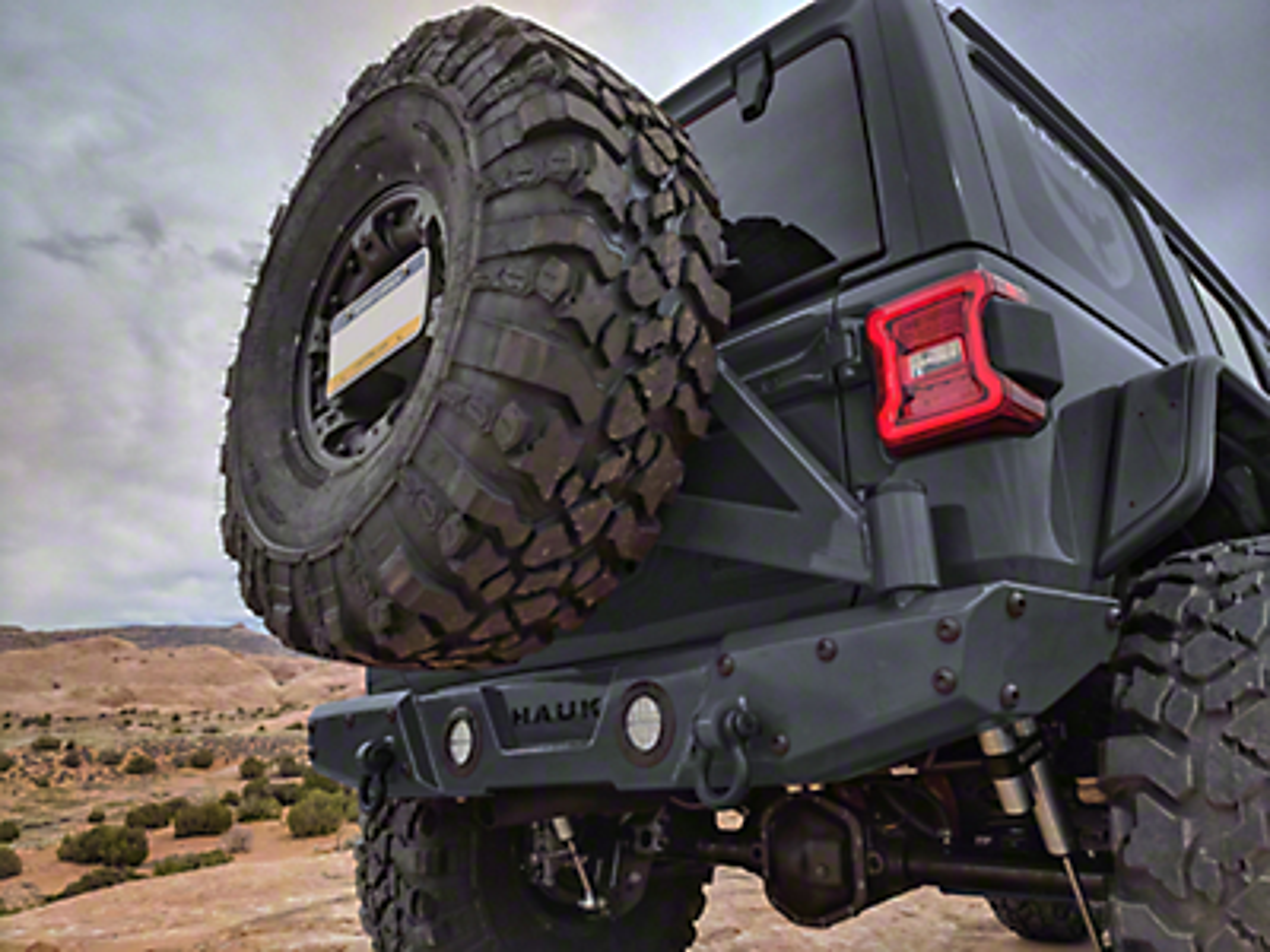 Hauk Off-Road Tire Carrier (2018 Wrangler JL)