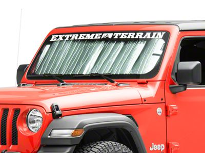 Custom Fit Automotive Reflective Windshield Sunshade for 2020 Jeep Gladiator