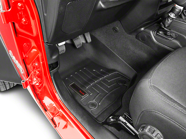 Weathertech DigitalFit Front Floor Liners - Black (18-19 Jeep Wrangler JL 4 Door)