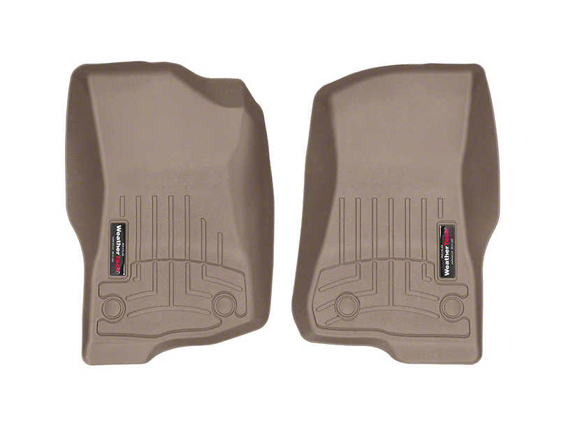 Weathertech DigitalFit Front Floor Liners; Tan (18-20 Jeep Wrangler JL 4 Door)