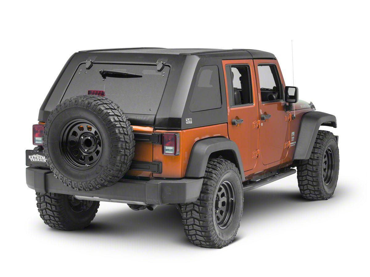 Wrangler Hard Top >> Dv8 Off Road 2 Piece Ranger Fastback Hard Top W Wiper 07 18 Jeep Wrangler Jk 4 Door