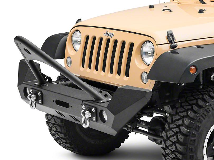 RedRock 4x4 Stinger Full Width Front Bumper w/ Winch Mount (07-18 Jeep Wrangler JK)