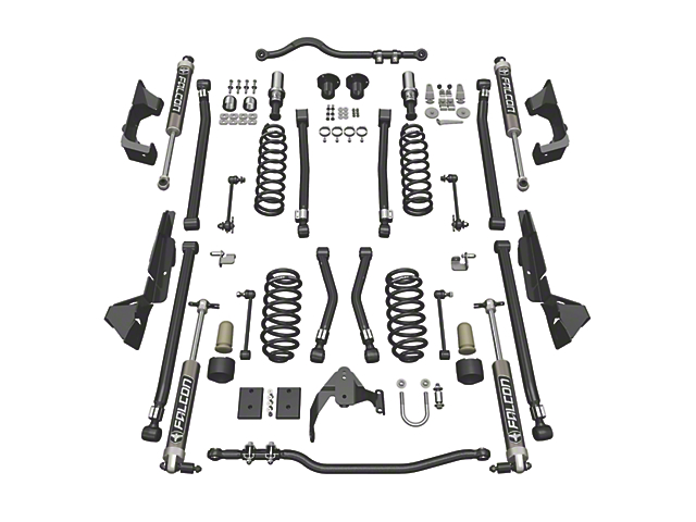 Teraflex 4-Inch Alpine CT4 Suspension Lift Kit with Falcon 2.1 Shocks (07-18 Jeep Wrangler JK 2 Door)