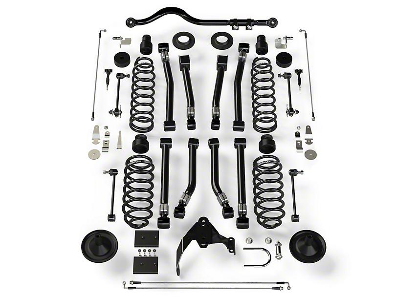 Teraflex 4 in. Alpine FlexArm Suspension Lift Kit w/ Track Bar (07-18 Jeep Wrangler JK 4 Door)