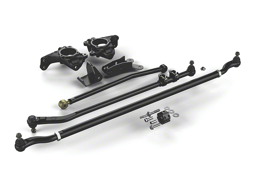 Teraflex Complete High Steer System w/ HD Tie Rod & Flipped Drag Link Kit (07-18 Jeep Wrangler JK)