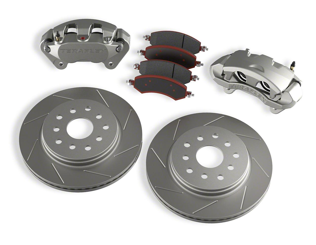 Teraflex Front Big Brake Kit w/ 13.3 in. Vented Slotted Rotors (07-18 Jeep Wrangler JK)