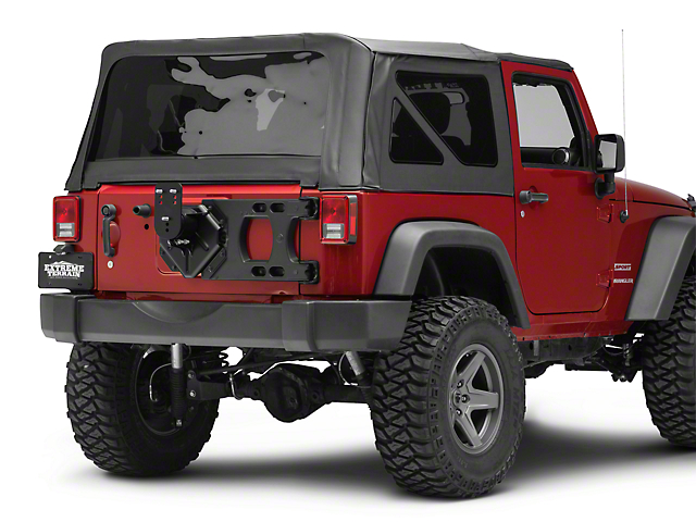 Teraflex HD Hinged Carrier w/ Adjustable Tire Mount (07-18 Jeep Wrangler JK)