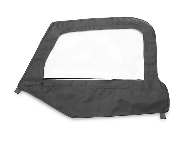 MasterTop Replacement Door Skin; Black Diamond; Driver Side (97-06 Jeep Wrangler TJ)
