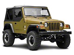 MasterTop Replacement Door Skin; Black Diamond; Passenger Side (97-06 Jeep Wrangler TJ)