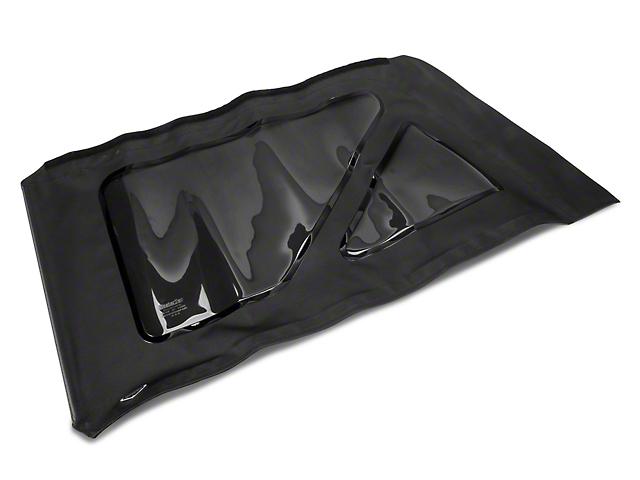 MasterTop Replacement Quarter Window; Black Diamond; Driver Side (07-18 Jeep Wrangler JK 2 Door)