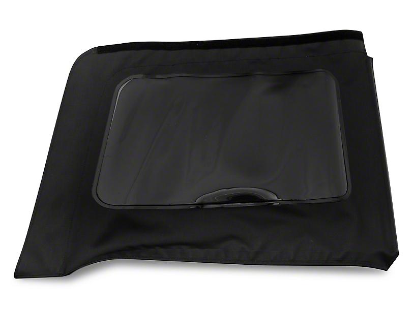 MasterTop Replacement Quarter Window - Black Diamond - Passenger Side (07-18 Jeep Wrangler JK 4 Door)