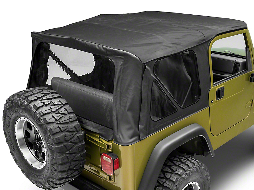 MasterTop Replacement Top w/ Door Skins - Clear Glass - Black Diamond (97-06 Jeep Wrangler TJ, Excluding Unlimited)