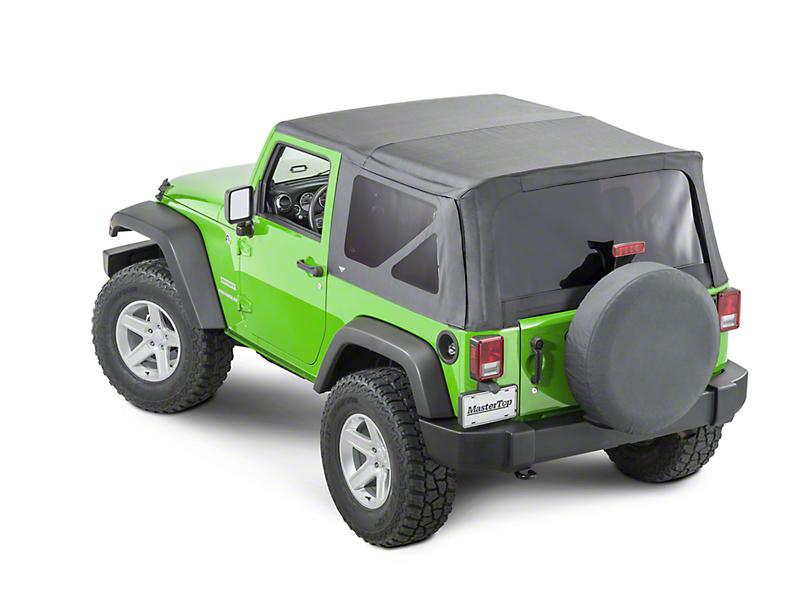 MasterTop Replacement Top w/o Door Skins - Tinted Glass - Black Diamond (10-18 Jeep Wrangler JK 2 Door)