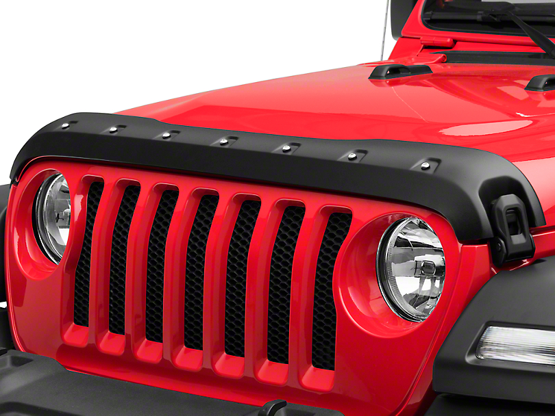 Premium Bolt-On Look Hood Deflector - Textured (18-19 Jeep Wrangler JL)