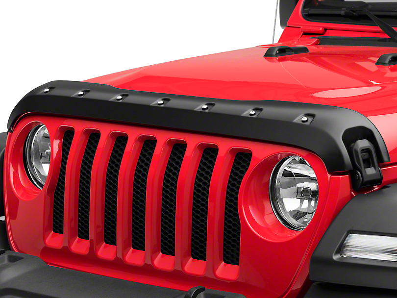 Premium Bolt-On Look Hood Deflector - Smooth (18-19 Jeep Wrangler JL)