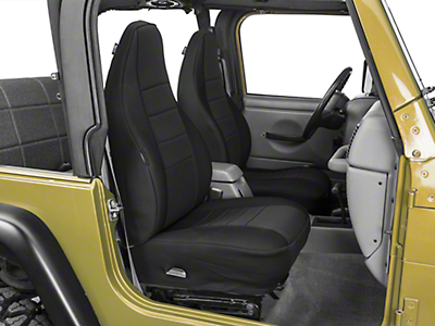 Rugged Ridge Neoprene Front Seat Covers - Black (97-02 Wrangler TJ)