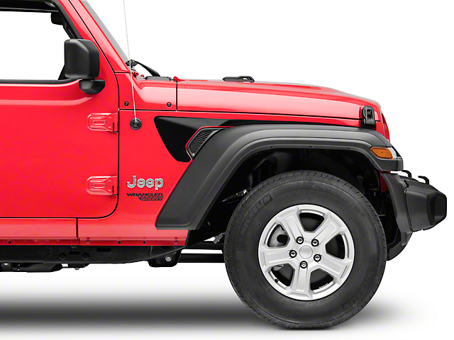 Side Accent Decals; Black (18-20 Jeep Wrangler JL)