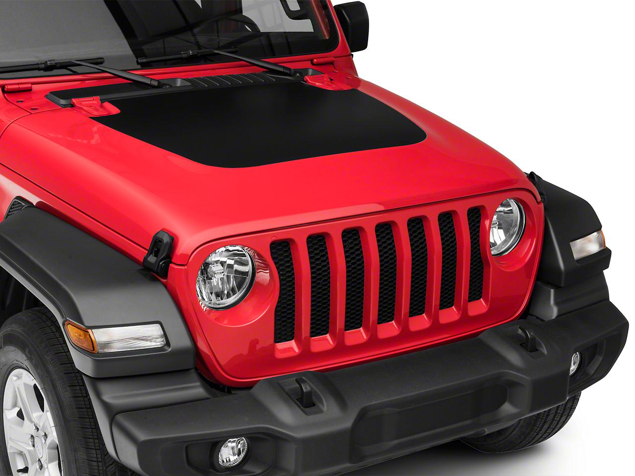 Hood Decal - Matte Black (2018 Jeep Wrangler JL)
