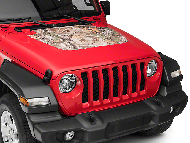 SEC10 Hood Decal; Camo Real Tree (2020 Jeep Gladiator JT, Excluding Launch Edition & Rubicon)