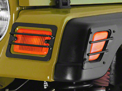 Rugged Ridge 4 Piece Front Euro Guards - Black (97-06 Wrangler TJ)