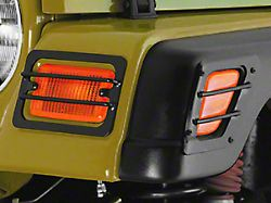 Rugged Ridge 4-Piece Turn Signal/Side Marker Euro Guards - Black (97-06 Jeep Wrangler TJ)