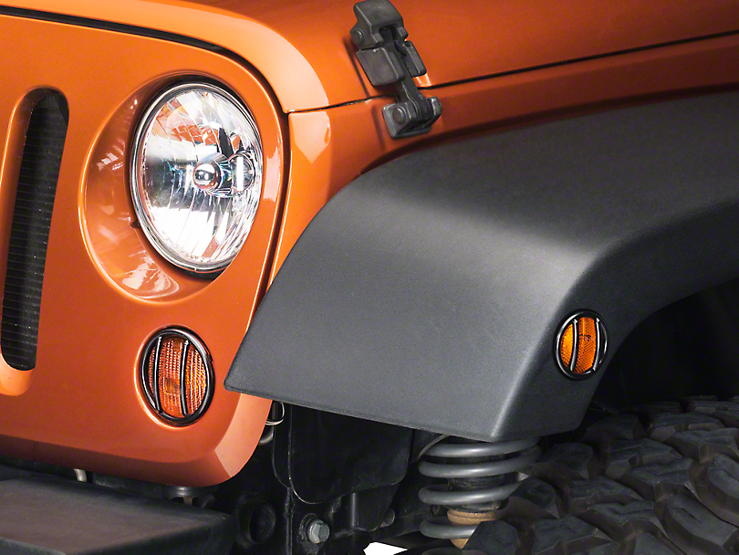 Rugged Ridge Front Side Marker and Parking Light Euro Guard Kit (07-18 Wrangler JK)